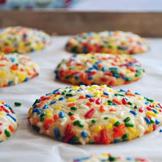 Vanilla Sprinkle Cookies.