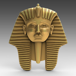 Pharoh by Charlie Alolkoy - Illustration Products & Objects ( pendant, jewelry, gold, meta, egypt )