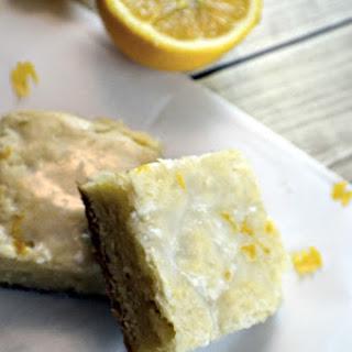 Meyer Lemon Cream Cheese Blondies