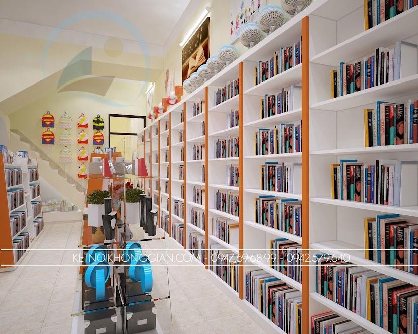 thiết kế nội thất nhà sách ấn tượng