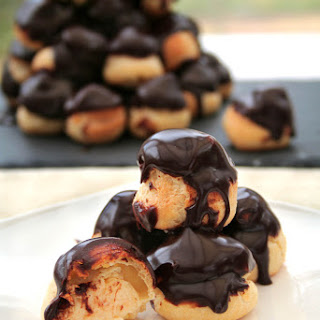 Profiteroles With Warm Chocolate Sauce