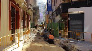 Obras en la calle Padre Luque.