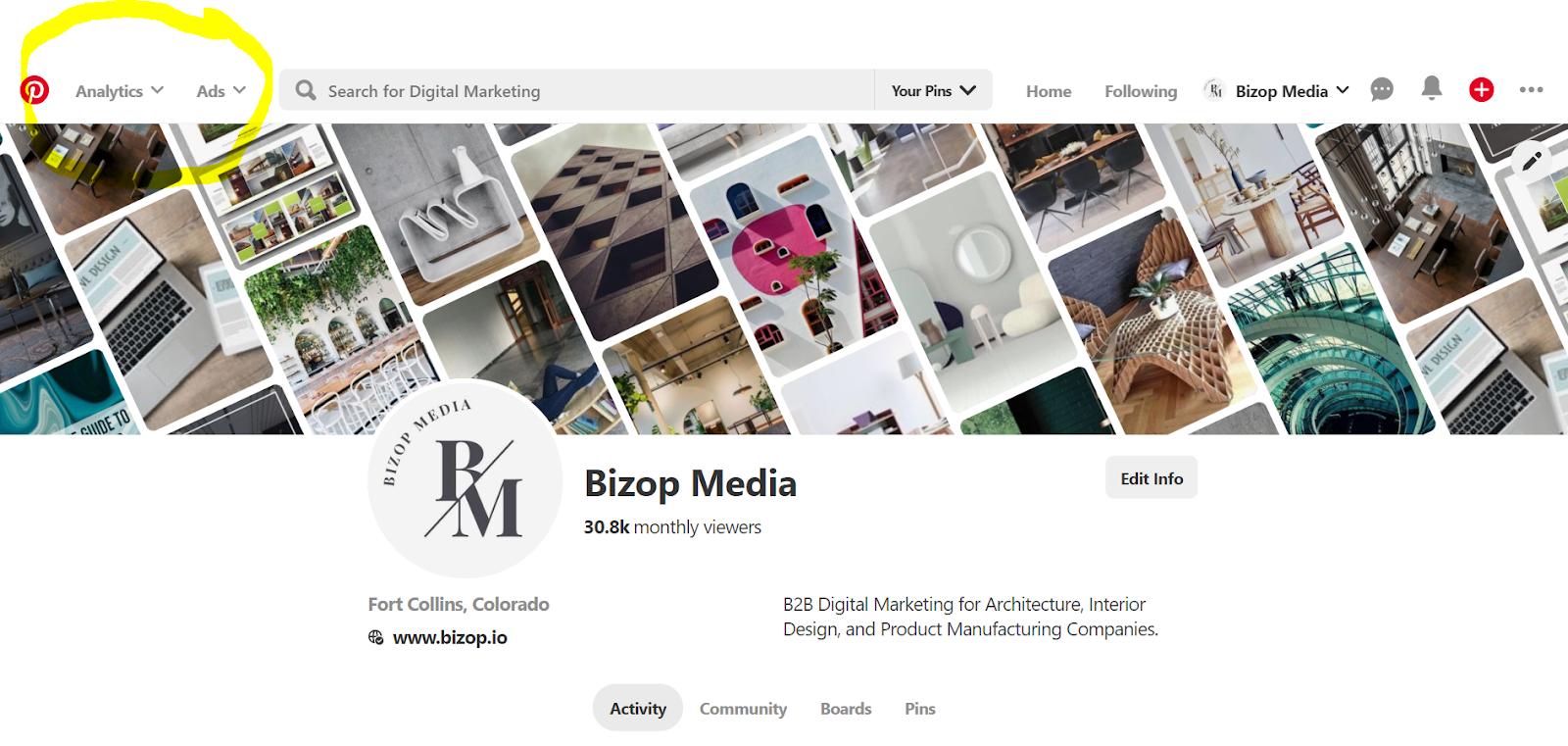 Bizop Media's page on Pinterest