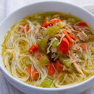 Gluten Free Chicken Noodle Soup.