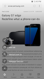 Samsung Internet- screenshot thumbnail