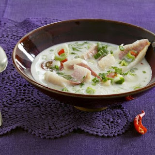 Coconut Soup with Red Mullet