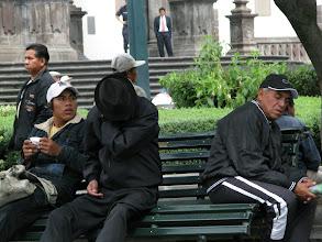 Photo: plaza grande, quito