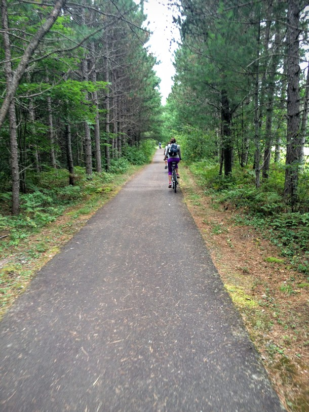 Fabulous bike trails located less than two mile form the park. They go for miles and miles! Some of the best trails we have ever seen.