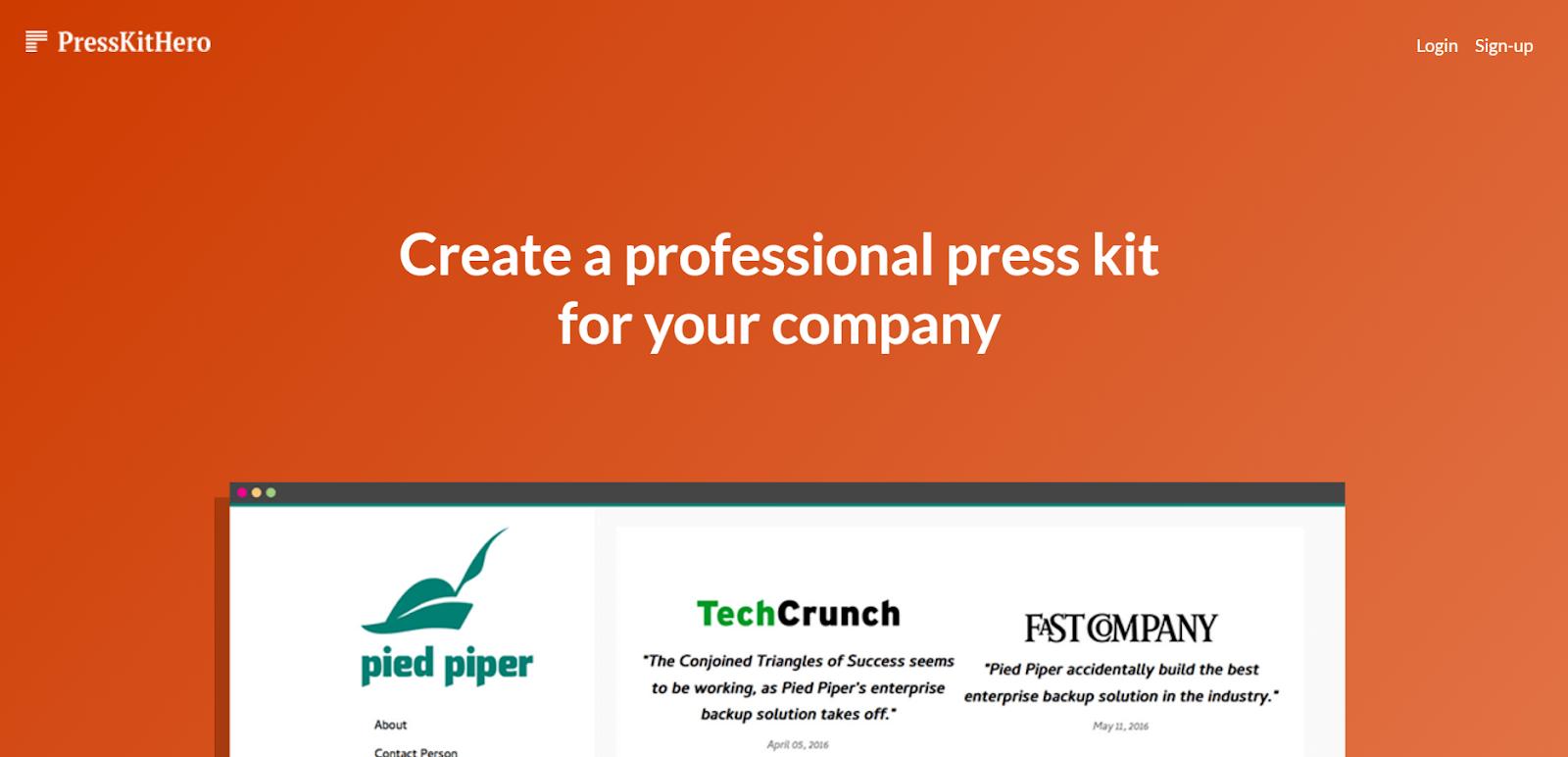 press kit software
