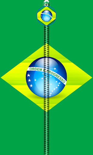 Brazil Flag Zipper UnLock