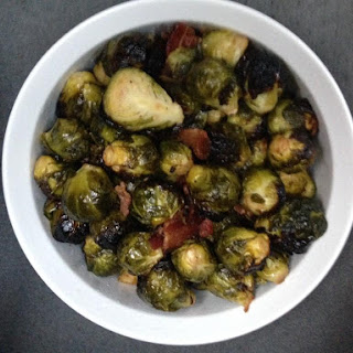 Sous Vide 1 hour brussels sprouts with bacon and garlic