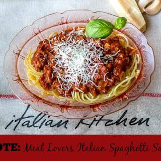 Meat Lovers Italian Spaghetti Sauce.