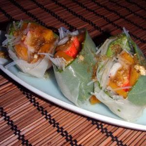 Crab & Mango spring rolls