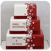 Name On Anniversary Cake Photo Frame