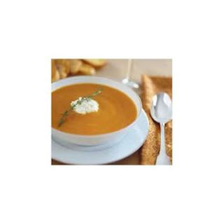Yeto's Superb Pumpkin and Goat Cheese Soup.