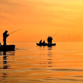 Fishing Together by Ahmet AYDIN - People Street & Candids ( fish, mans, turkey, fishing )