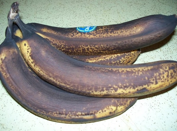 Let your banana's ripen until the skins are black , this will give you...