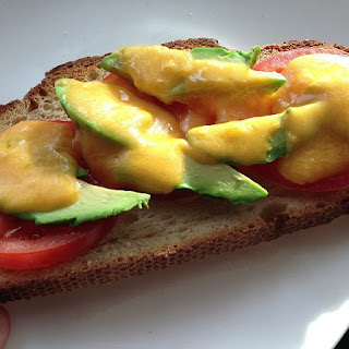 Yummy Avocado Cheese Toast with Tomatoes Recipe