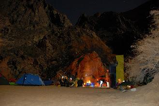 Photo: Camp amongst the rocks