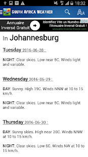 South Africa Weather- screenshot thumbnail