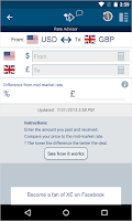 Screenshot of XE Currency