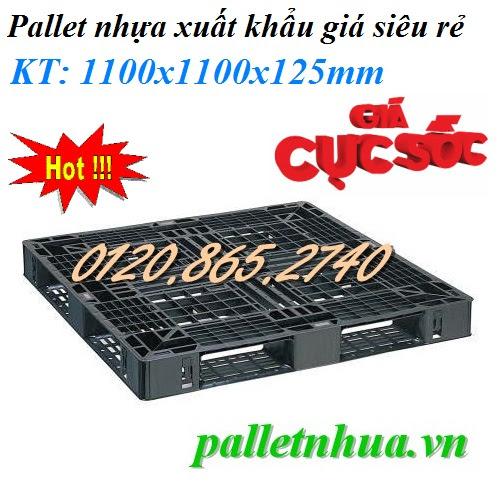 Pallet nhựa 1100x1100x125mm