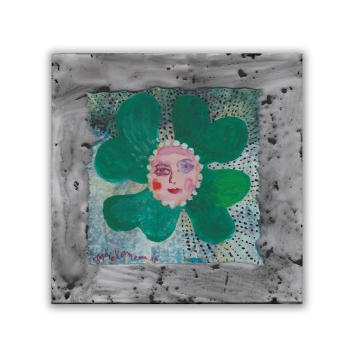 espoir-ombre-sophie-lormeau-mini-art-miniature-contemporain-singulier-figuratif-peinture-acrylique-dessin-collage-artiste-femme-france-trefle-4-feuilles-bonheur-hope-visage-portrait-papier-sous-verre-poeqie-onirique-vendu-sold-©-adagp-paris-2020-BD