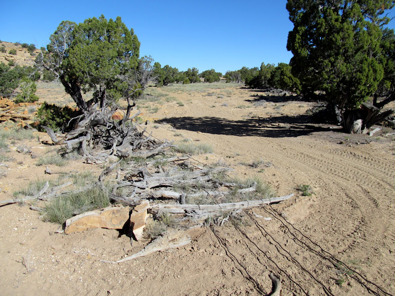 Photo: Wild horse trap/corral at Home Base