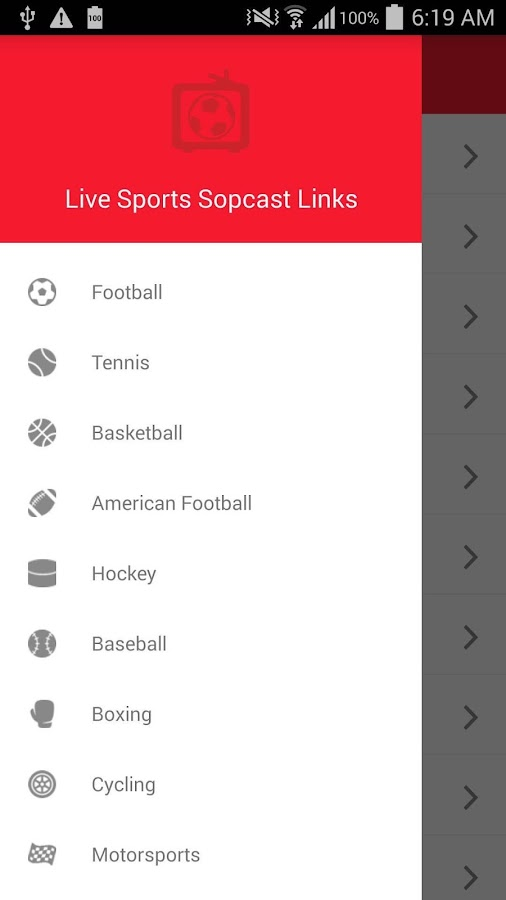 Live Sports Sopcast Links- screenshot