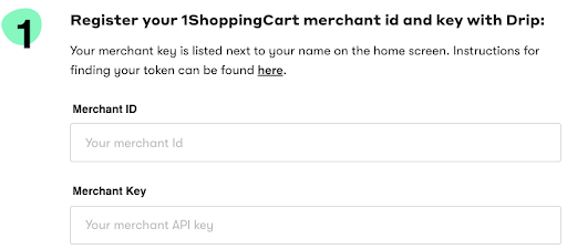 Drip and 1ShoppingCart Integration Screenshot