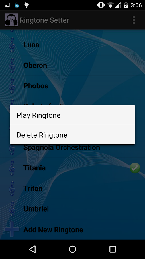 Ringtone Setter- screenshot