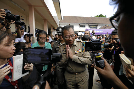 Narongsak Osottanakorn, the head of the rescue mission, attends a news conference in the northern province of Chiang Rai, Thailand, on July 9 2018. Picture: REUTERS/TYRONE SIU