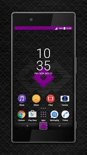 Metal Grid purple Xperia™ theme - náhled