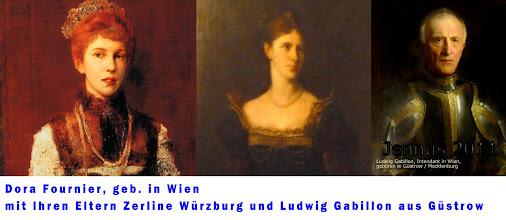 Photo: Portrait der Wienerin Dora Fournier-Gabillon. Dora war die Tochter des Schauspieler Ehepaares Ludwig und Zerline Gabillon aus Mecklenburg.