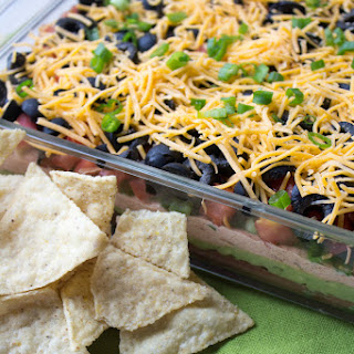 The Best Healthy Seven Layer Dip.