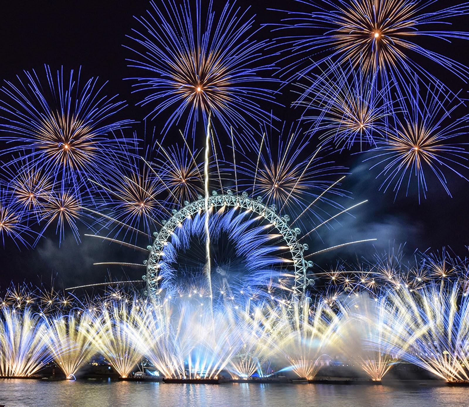 London's NYE Fireworks