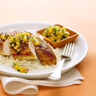 Chicken with Mango Salsa.