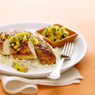 Chicken with Mango Salsa.