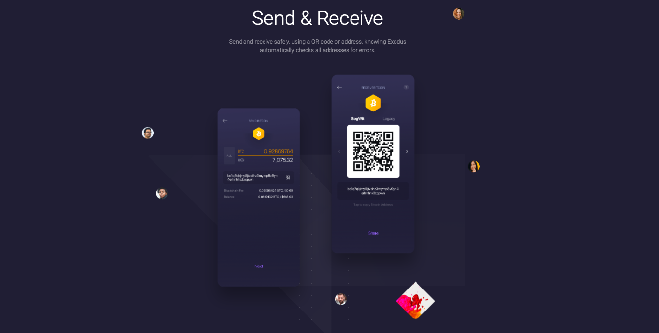 Exodus wallet send and receive