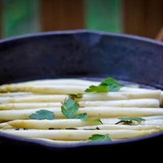 Braised White Asparagus.