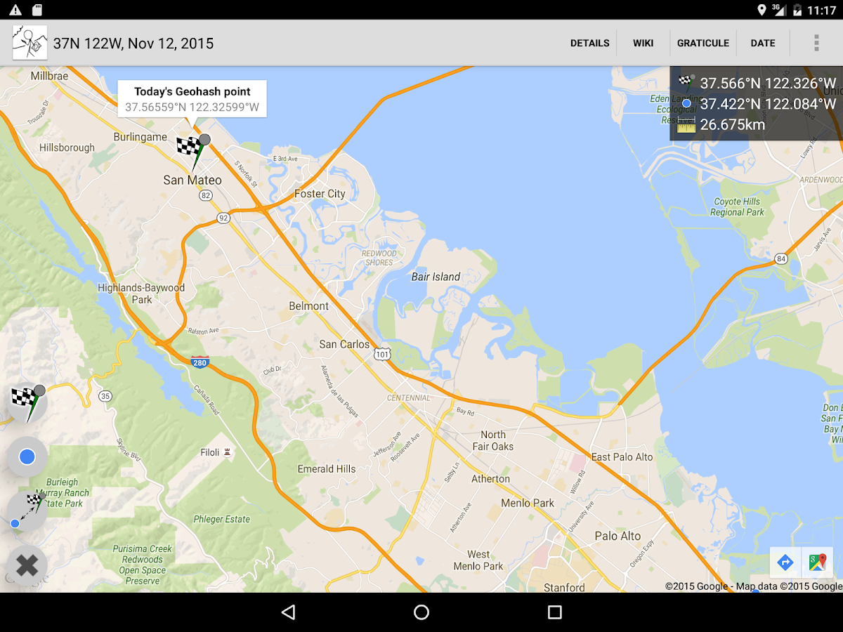 Geohash Droid – Screenshot