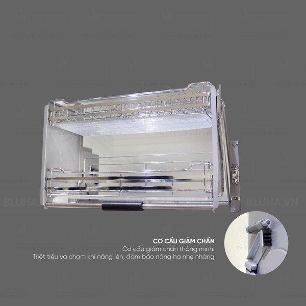 Cơ cấu giảm chấn thông minh - Giá bát nâng hạ Garis BH06.800 - Phụ kiện bếp chính hãng