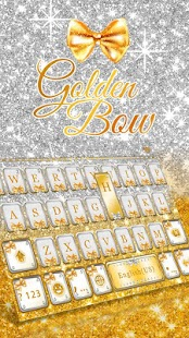 Golden-Bow-Kika-Keyboard-Theme