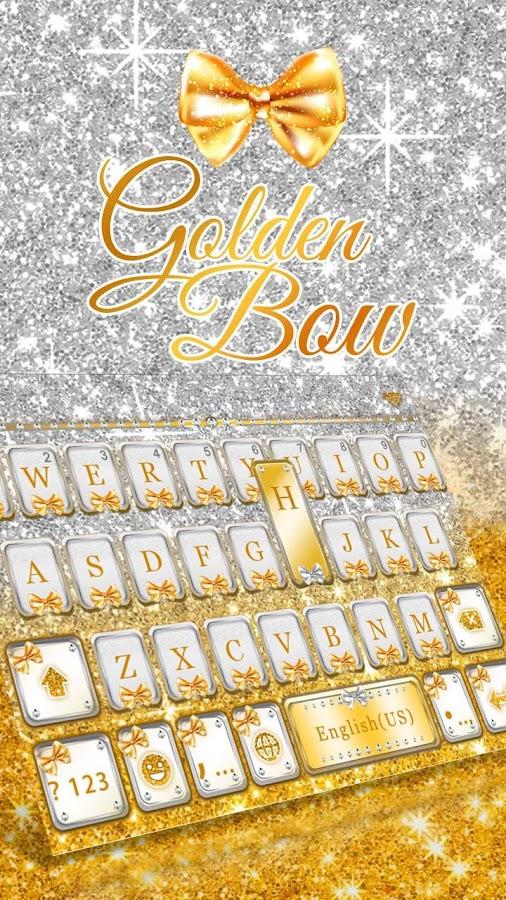 Golden-Bow-Kika-Keyboard-Theme 8