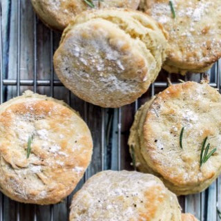 Non-Dairy Rosemary Biscuits.