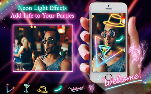 Download Neon filter photo editor - custom neon signs For PC Windows and Mac apk screenshot 1