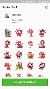 Taffy Cat Sticker Screenshot