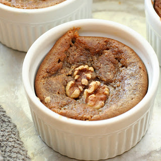 Warm Walnut Bread Pudding