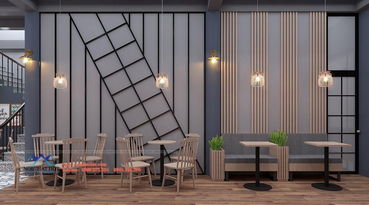 thiết kế quán trà sữa green 3