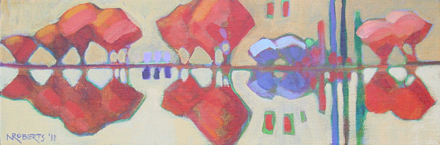 Photo: Little Reflections, acrylic on canvas by Nancy Roberts, copyright 2014. Private collection.
